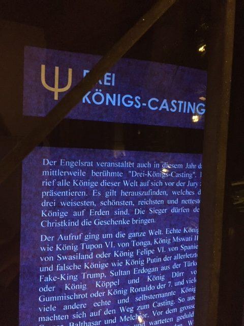 Das Königs Casting im Hoosesagg